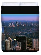 Cities Of Atlanta Duvet Cover