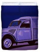 Citroen 2cv Azu 1957 Painting Duvet Cover