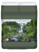 Cittenango Falls Tilt Shift Panorama  Duvet Cover