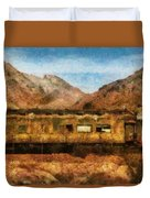 City - Arizona - Desert Train Duvet Cover