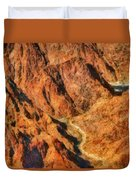 City - Arizona - Grand Canyon - A Look Into The Abyss Duvet Cover