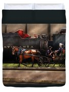 City - Lancaster Pa - You Got To Love Lancaster Duvet Cover by Mike Savad