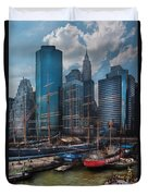 City - Ny - The New City Duvet Cover