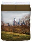 City - Philadelphia Pa  - The City Of Philadelphia  Duvet Cover