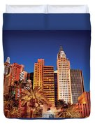 City - Vegas - Ny - The New York Hotel Duvet Cover