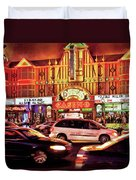 City - Vegas - O'sheas Casino Duvet Cover