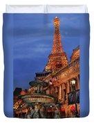 City - Vegas - Paris - Academie Nationale - Panorama Duvet Cover