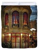 City - Vegas - Paris - Le Cafe Duvet Cover