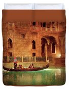 City - Vegas - Venetian - The Gondola's Of Venice Duvet Cover