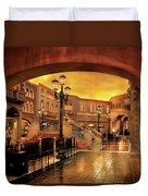 City - Vegas - Venetian - The Streets Of Venice Duvet Cover