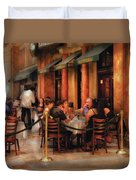 City - Venetian - Dining At The Palazzo Duvet Cover