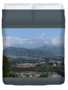 City And Annapurna  View  Duvet Cover by Atul Daimari