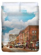 City - Arkansas - Main St 1925 Duvet Cover