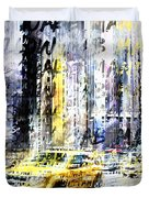 City-art Times Square Streetscene Duvet Cover