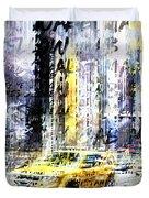 City-art Times Square Streetscene Duvet Cover