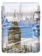 City Art Westminster Collage Duvet Cover