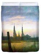 City At Moonrise Duvet Cover