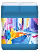 City At Waters Edge Duvet Cover