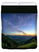 City Below The Mountains Duvet Cover