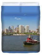 City - Camden Nj - The City Of Philadelphia Duvet Cover