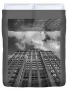City Canyon Black And White Duvet Cover