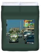 City Driving Duvet Cover