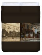 City - Elegant Apartments - 1912 - Side By Side Duvet Cover