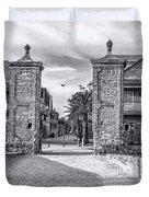 City Gates Black And White 2018 Duvet Cover