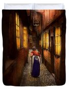 City - Germany - Alley - A Long Hard Life 1904 Duvet Cover