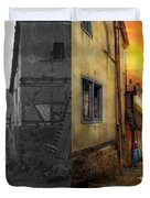 City - Germany - Alley - The Farmers Wife 1904 - Side By Side Duvet Cover