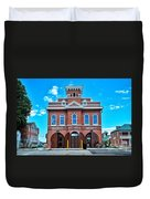 City Hall And Fire Department Duvet Cover