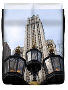 City Hall Area Nyc Duvet Cover