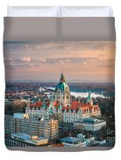 City Hall Of Hannover, Germany Duvet Cover