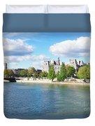 Seine River Embankment Duvet Cover