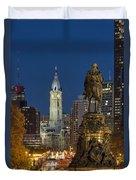City Hall Philadelphia Duvet Cover