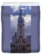 City Hall Philly Duvet Cover