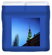 City Hall Tower Duvet Cover