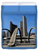 City Halll Arches Duvet Cover
