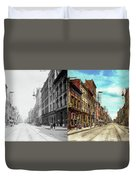 City - Knoxville Tn - Gay Street 1903 - Side By Side Duvet Cover