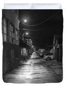 City Lane At Night Duvet Cover