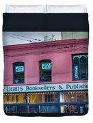 City Lights Booksellers Duvet Cover