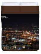 City Lights Over Bham, Al Duvet Cover