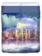 City Moon Duvet Cover
