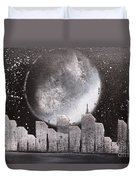 City Night Scape Duvet Cover