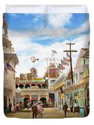 City - Ny - The Great Steeplechase 1903 Duvet Cover