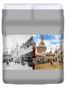 City - Ny - The Great Steeplechase 1903 - Side By Side Duvet Cover