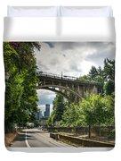 City Of Bridges Duvet Cover