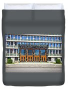 City Of Ljubljana Parliament Building View Duvet Cover