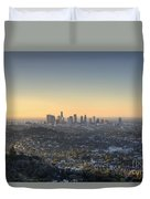City Of Los Angeles At Dawn Duvet Cover