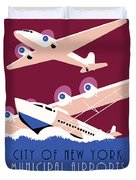 City Of New York Municipal Airports Duvet Cover